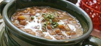 Supa de linte cu costita afumata