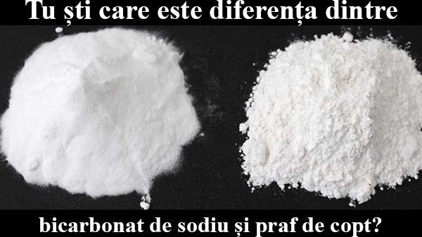 Care este diferenta dintre bicarbonat de sodiu si praf de copt