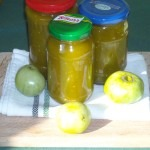 Dulceata de gogonele (patlagele) verzi, pentru iarna