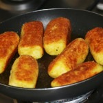 Crochete de cartofi cu ciuperci