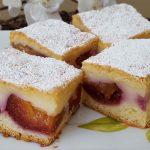 Prajitura cu prune si crema de vanilie