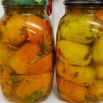 Gogonele marinate impanate cu morcov si verdeata pentru iarna