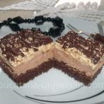Prajitura cu crema de ciocolata si nuca